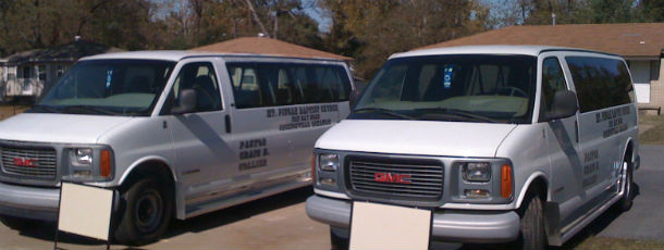 Call us, and we'll be on our way to pick you up for our Sunday Service!